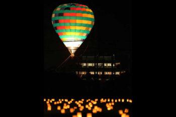 天平祭熱気球