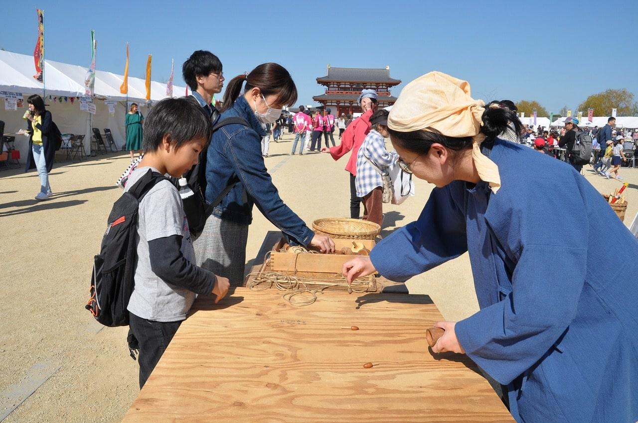 奈良時代体験コーナー